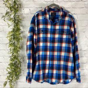American Eagle Blue Plaid Flannel Men XL